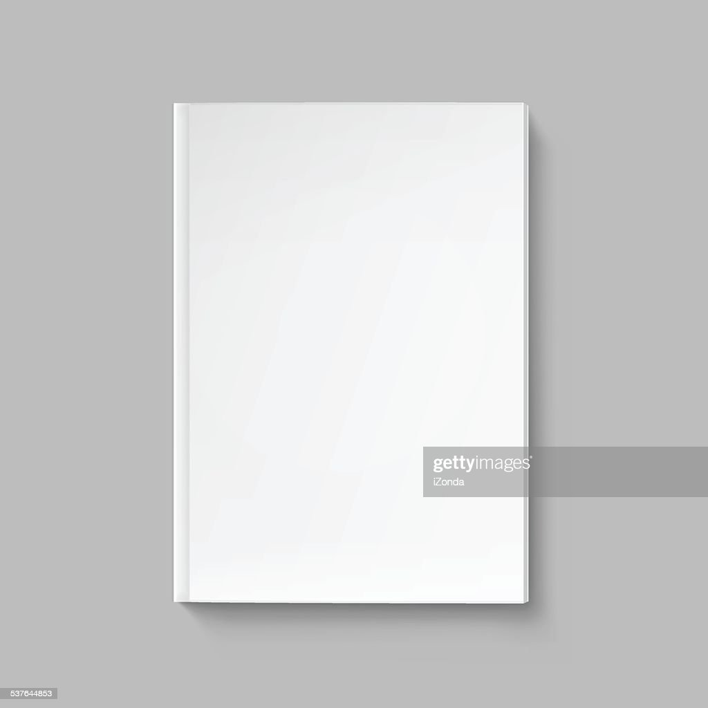 Vector Blank Cover for Book or Magazine Template Isolated