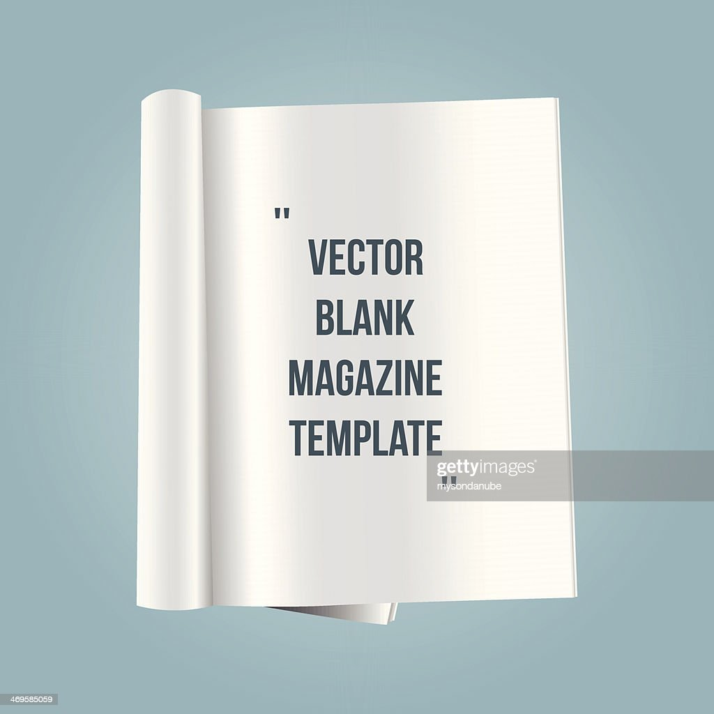 vector blank magazine template