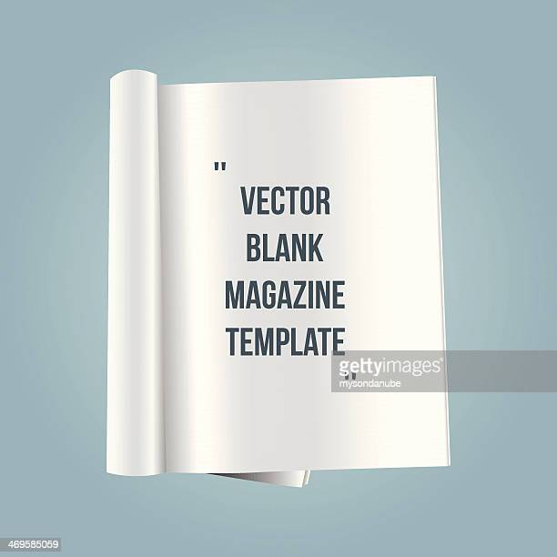 vector blank magazine template - open stock illustrations