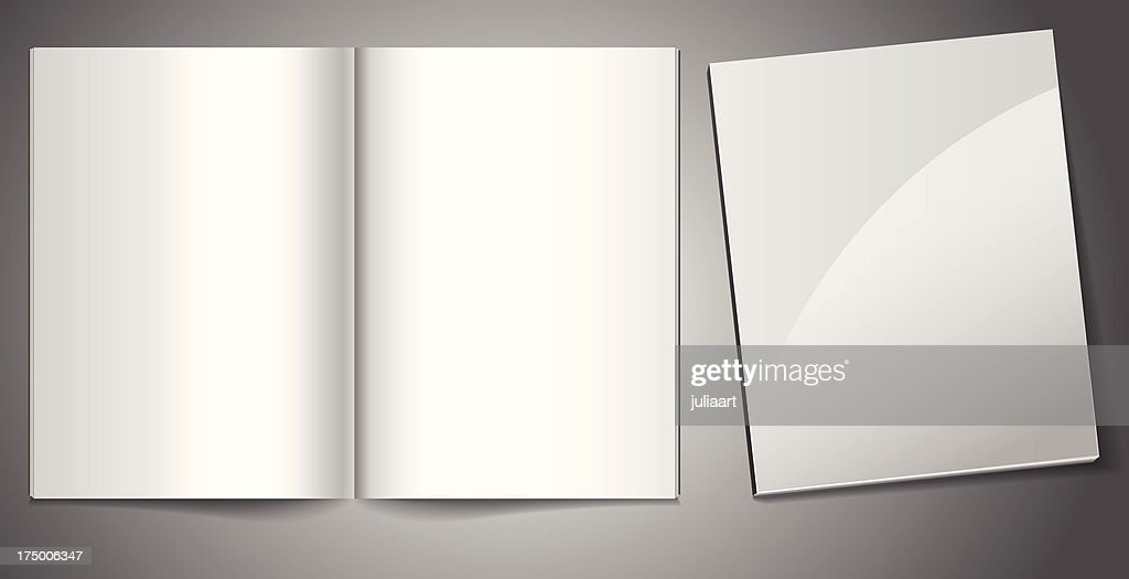 Vector blank magazines. Template for your design.