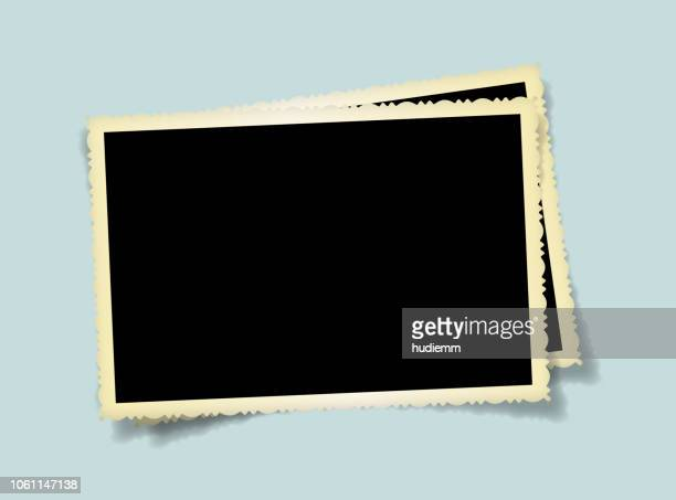vector blank old picture frame textured isolated - postcard stock illustrations, clip art, cartoons, & icons