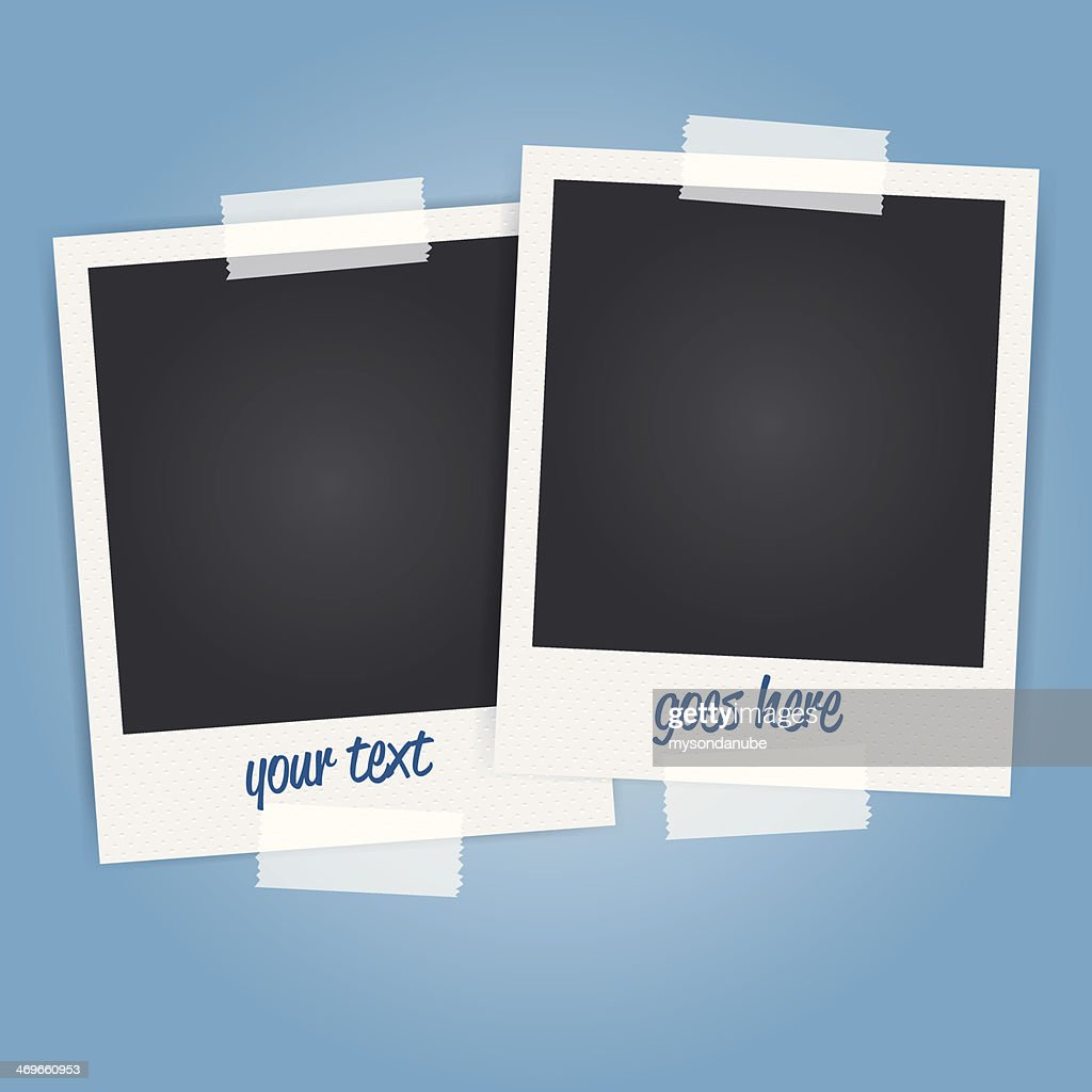 vector blank polaroid photo frames