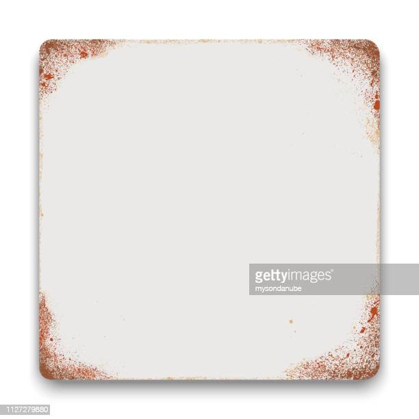 vector blank tin sign square background. - can stock illustrations