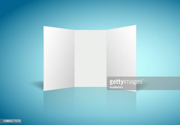 vector blank white paper display board background - model stock illustrations