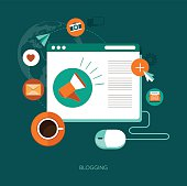vector blogging concept illustration