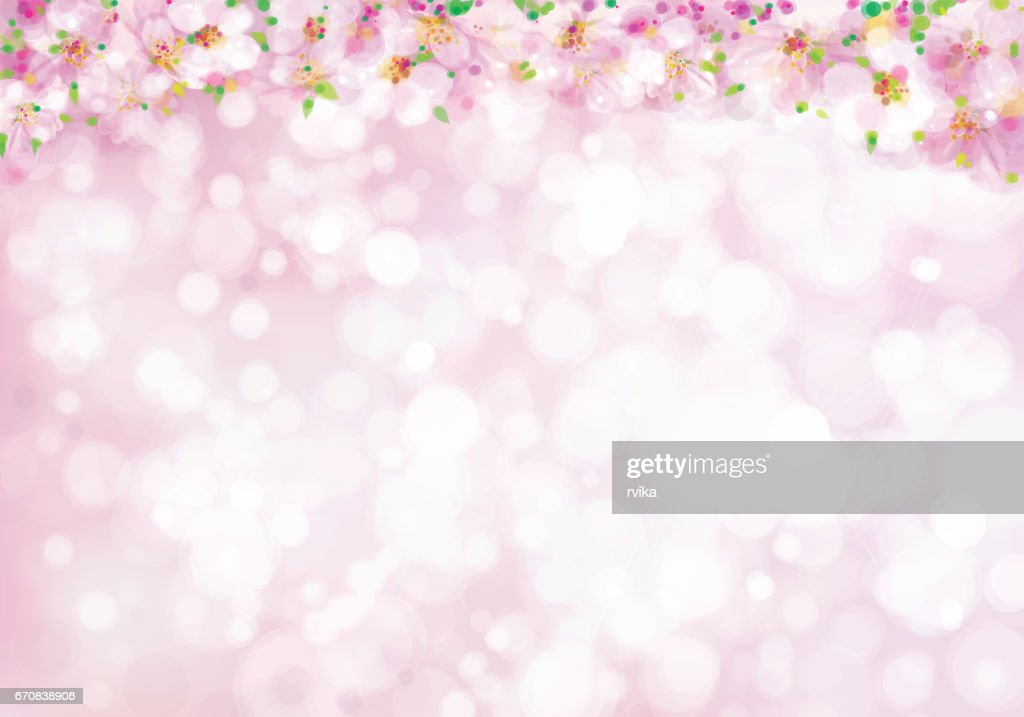 Vector blossoming  spring background.