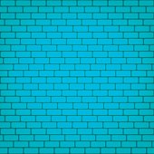 Vector blue brick wall seamless background.