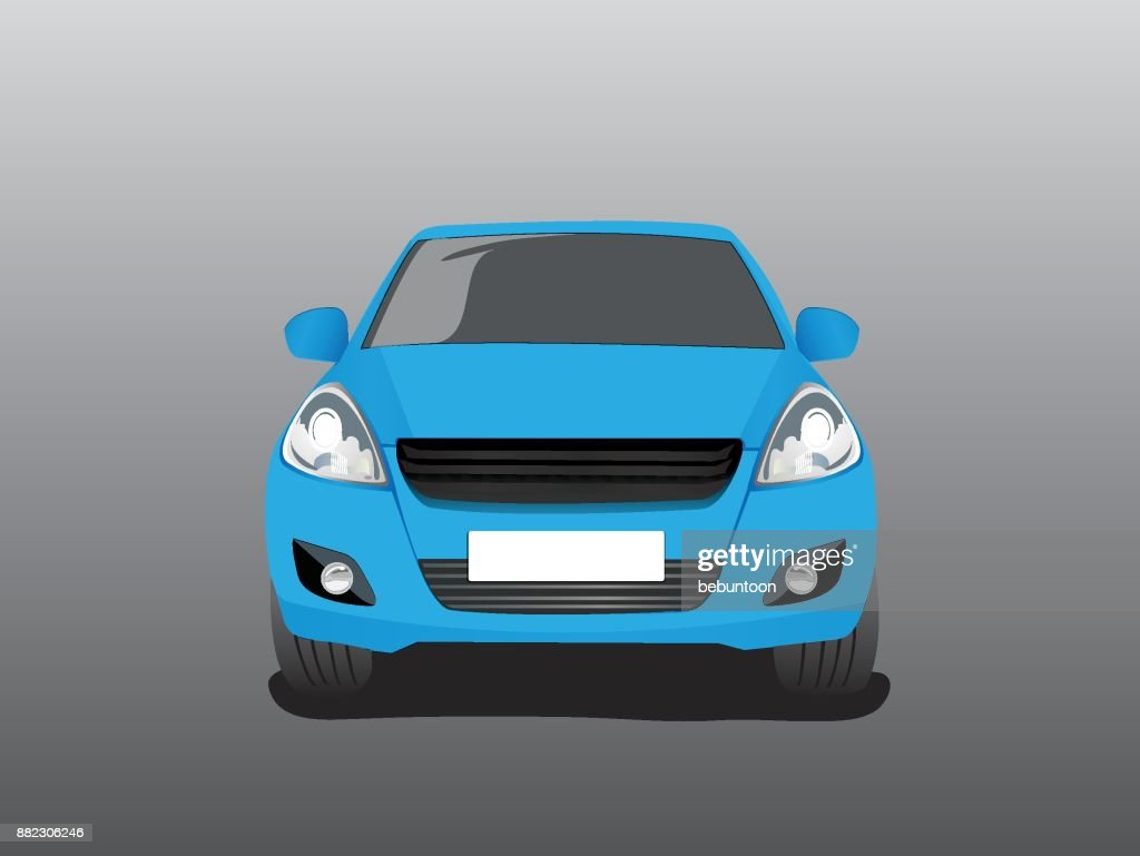 Vector blue car