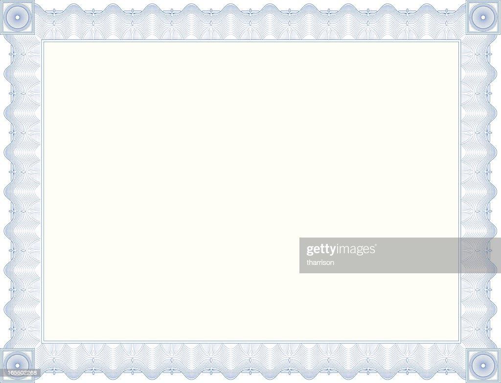 Vector Blue Certificate Border Vector Art | Getty Images