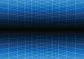 Vector blue grid light technology vector background.