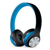 Vector Blue Headphones
