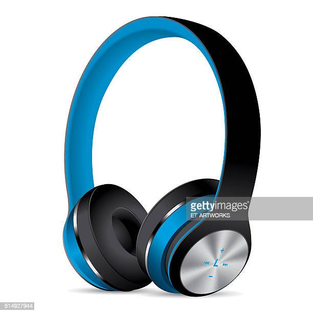 Vector Blue Headphones