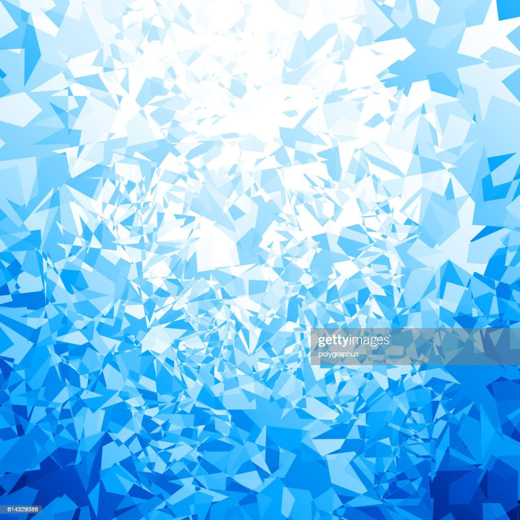 Vector blue ice background