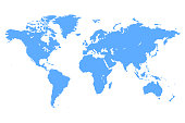 Vector Blue map of the World