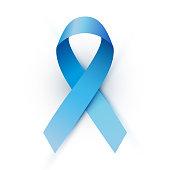 Vector blue ribbon