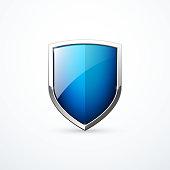 Vector blue shield icon