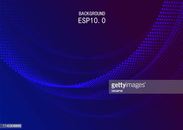 vector blue space particle background - particle stock illustrations