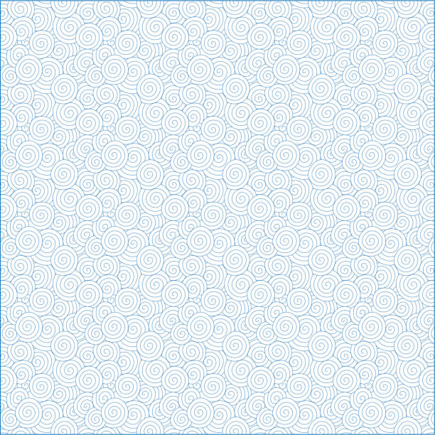 vector blue spiral pattern (chinese auspicious clouds) background textured - swirl stock illustrations