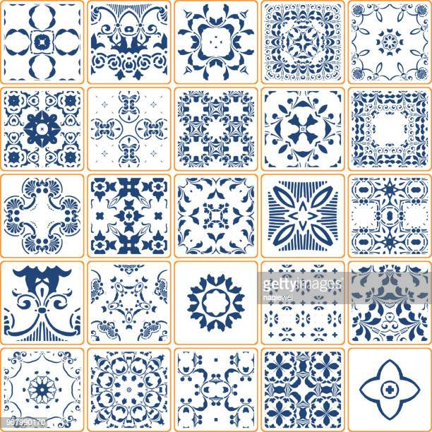 Vector Blue Tile Collection