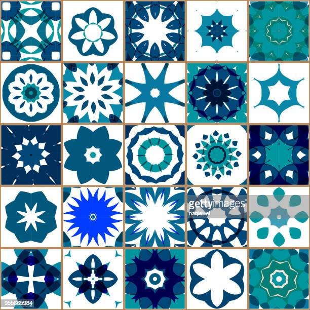 Vector Blue Tile Pattern