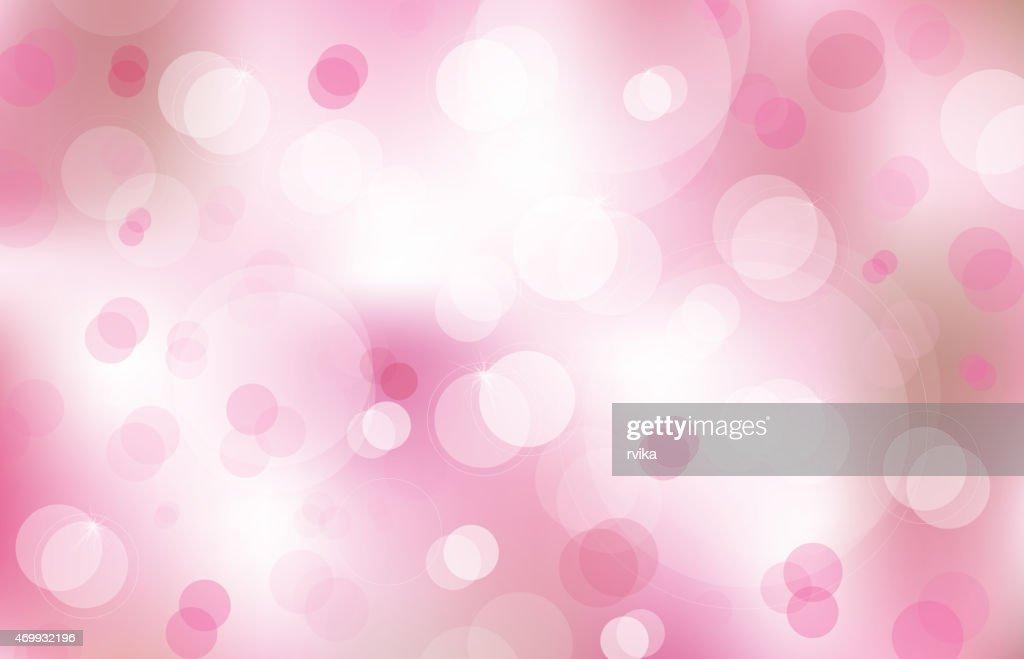 Vector bokeh pink background.