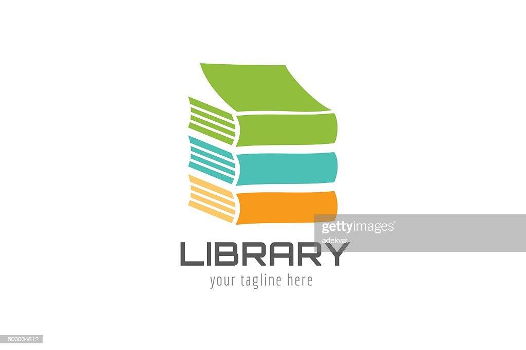 Vector book house template icon