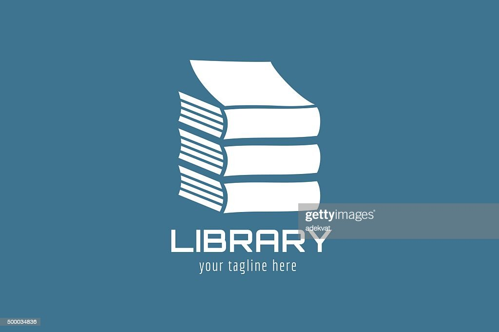Vector book house template icon