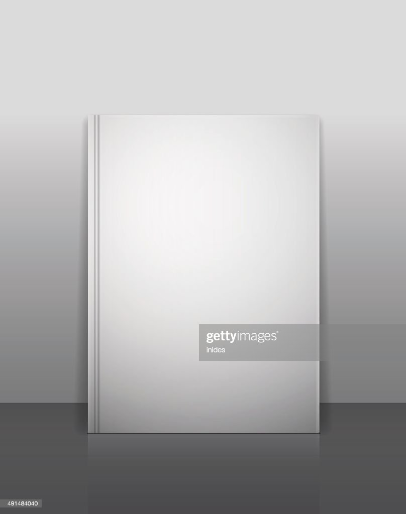 Vector book mockup template. Ready to place your image