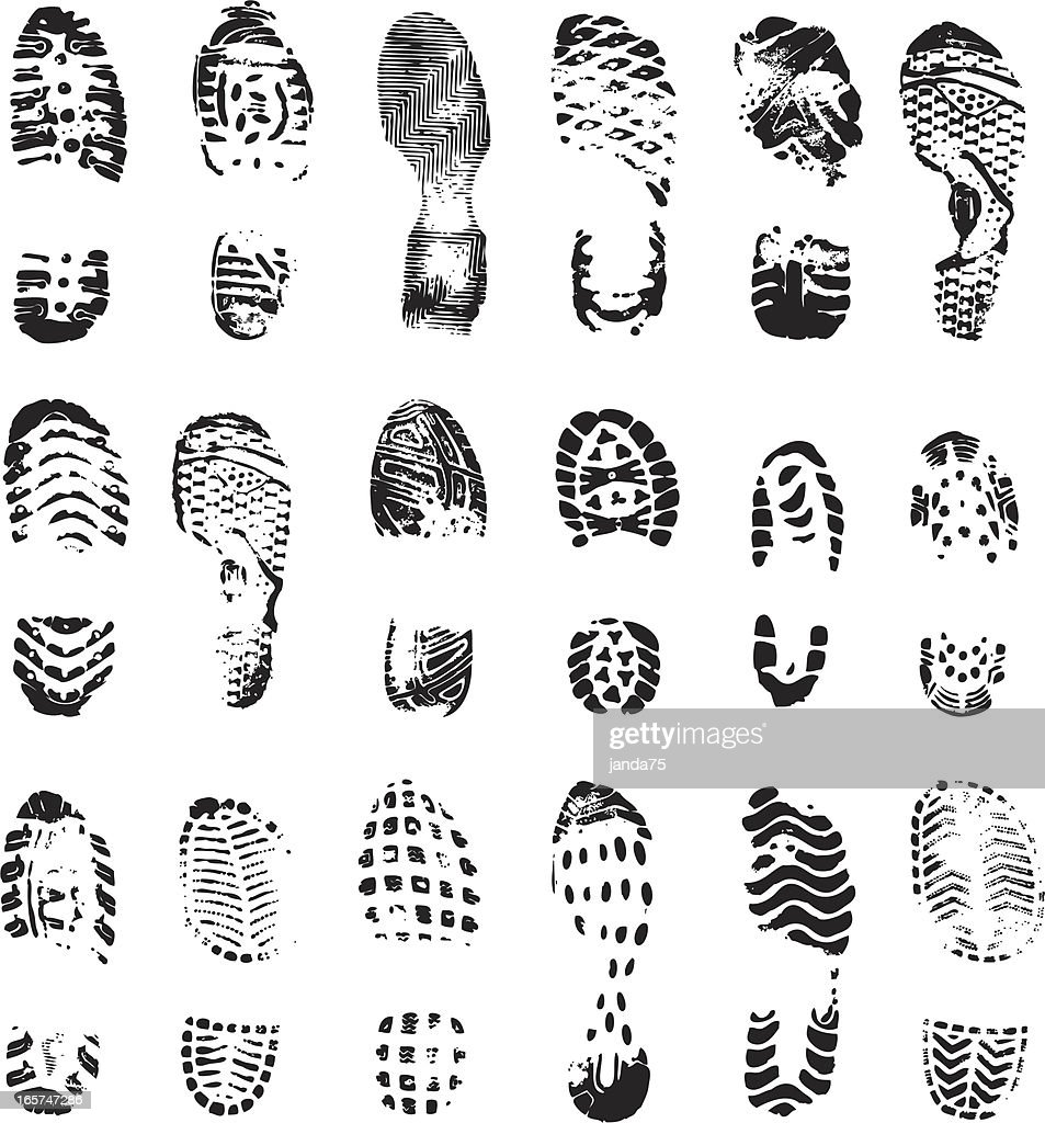 Vector Boot Print stock illustration - Getty Images