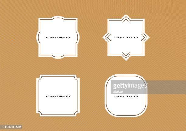 vector border template - ornate stock illustrations