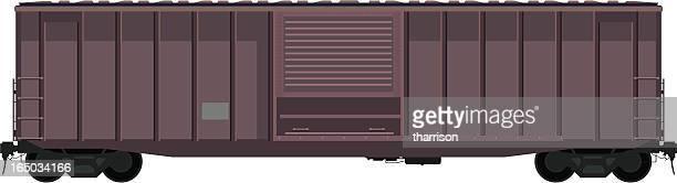ベクトル箱 1 - 貨物列車点のイラスト素材/クリップアート素材/マンガ素材/アイコン素材