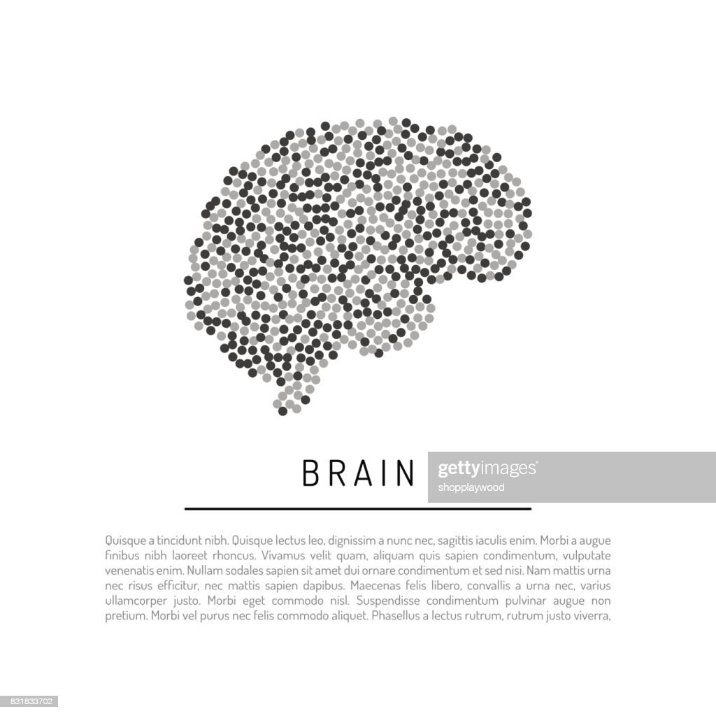vector brain isolated