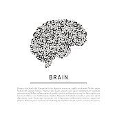vector brain isolated