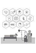 Vector Brain Stimulation Icons