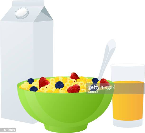 vector breakfast - breakfast cereal stock illustrations, clip art, cartoons, & icons