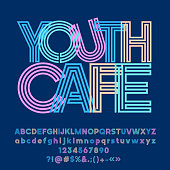 Vector bright abstract logo Youth Cafe