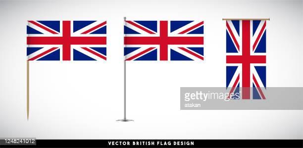 illustrations, cliparts, dessins animés et icônes de indicateur britannique vectoriel placé sur le fond blanc - drapeau anglais