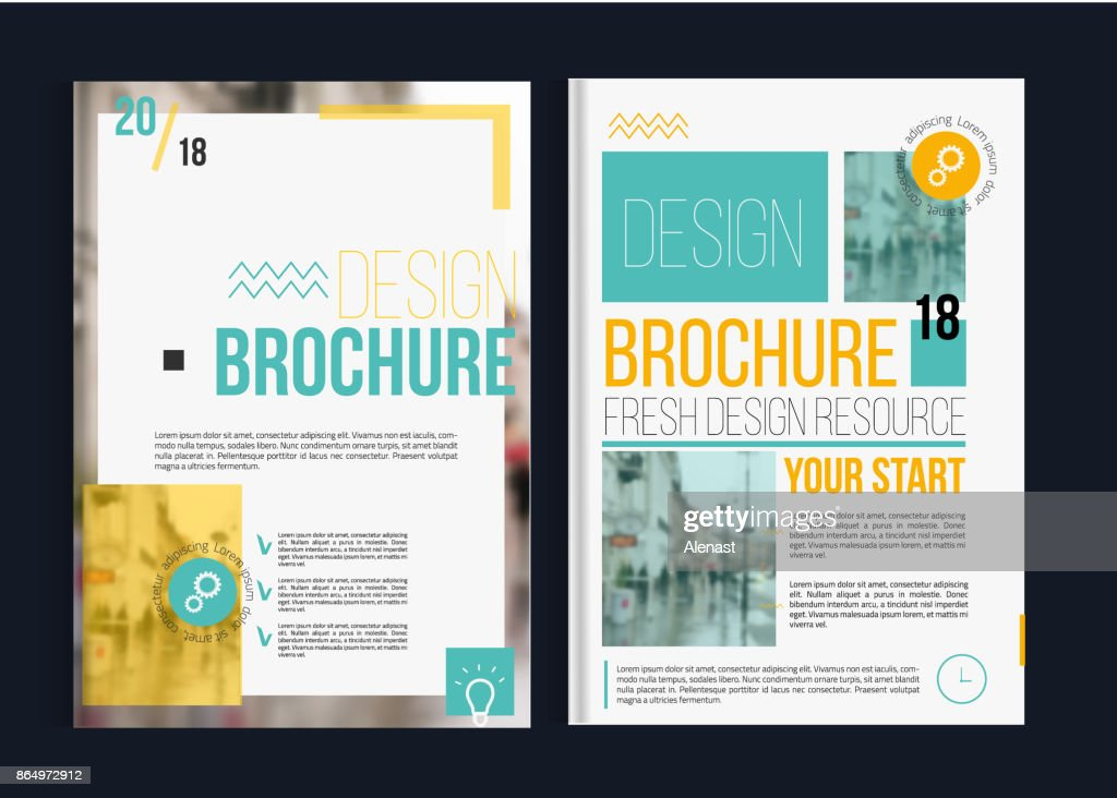 Vector brochure cover templates with blured city landscape. Business book cover design, flyer, professional corporate identity style for presentations