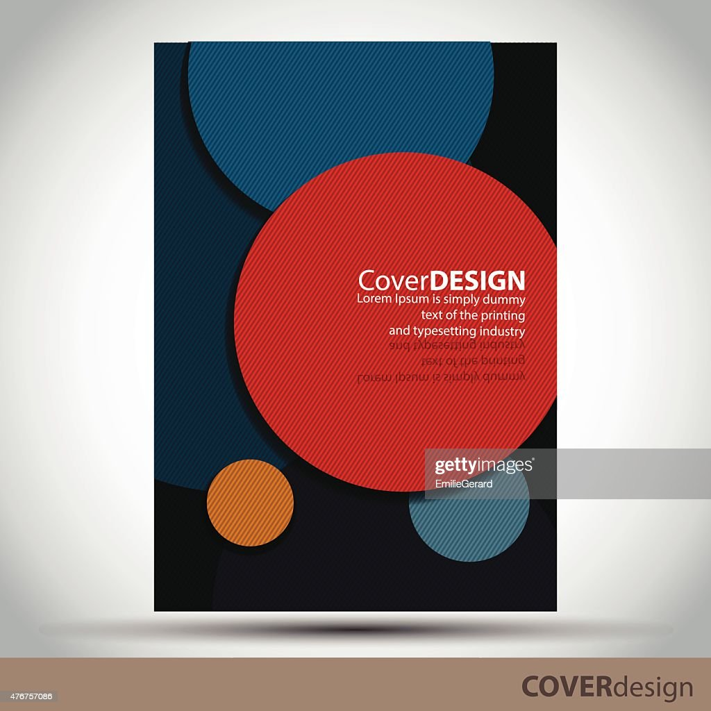 Vector brochure, flyer, cover design template with colorful circles