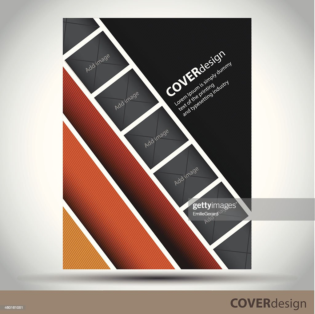 Vector brochure, flyer, cover design template with frameworks