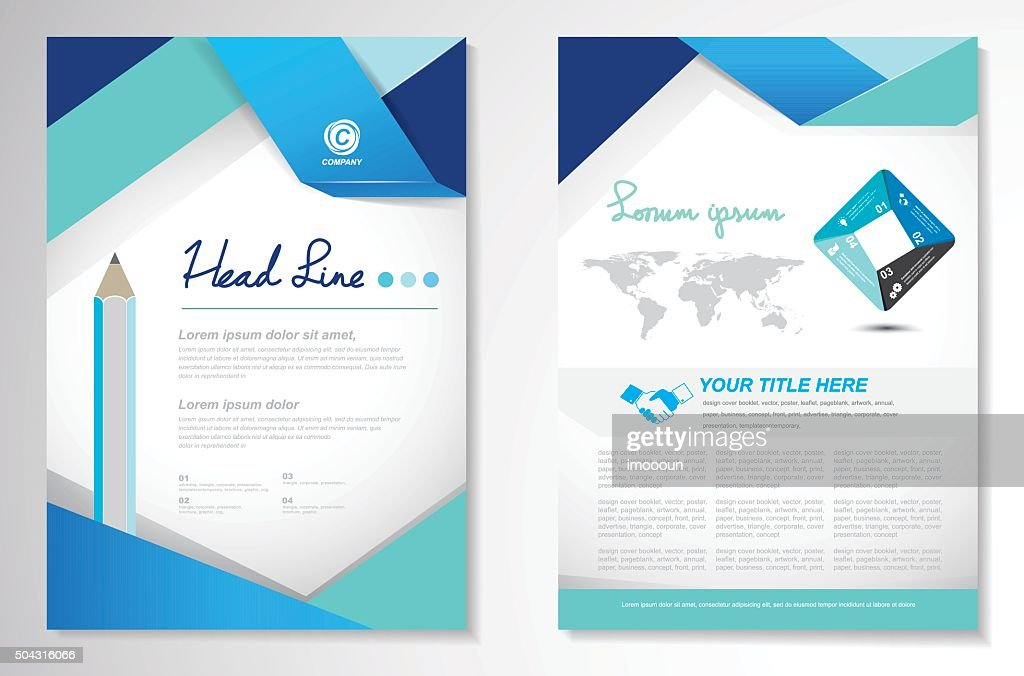 Vector Brochure Flyer design Layout template, size A4, Front pag