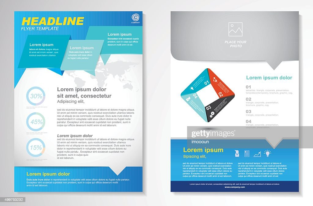 Vector Brochure Flyer design Layout template, size A4,