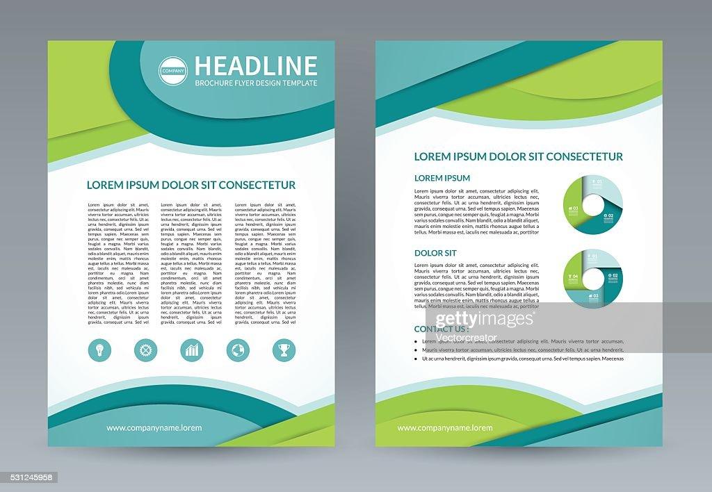 Vector brochure flyer design template. A4 size