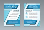 Vector brochure flyer template. A4 size. Front and back page