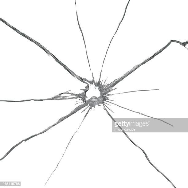 vector broken glass background - cracked stock illustrations