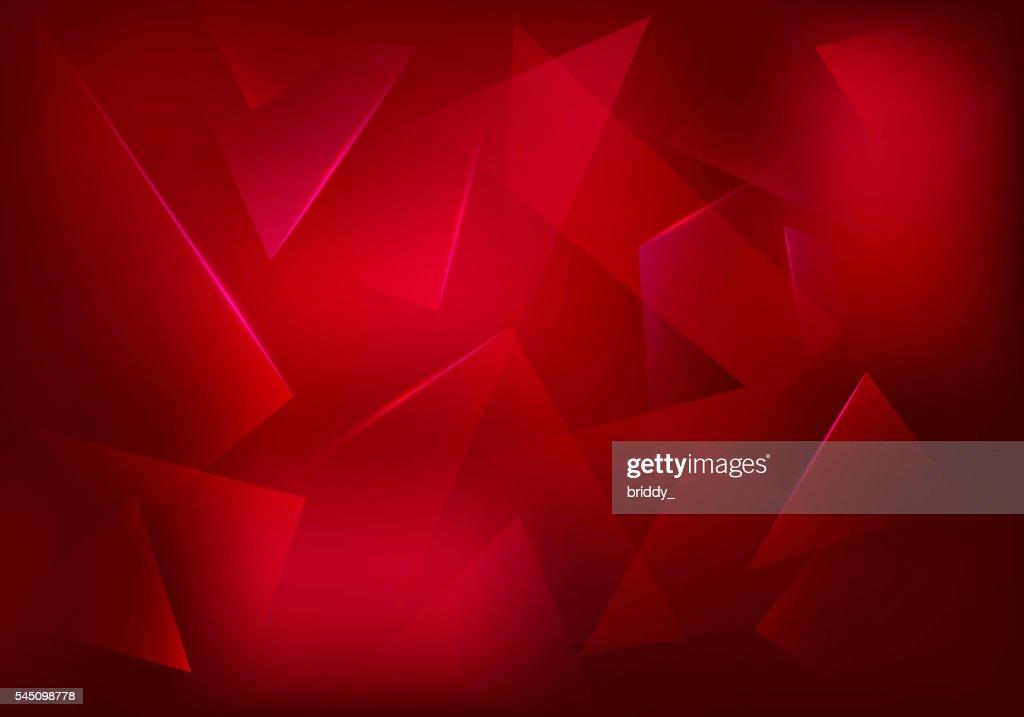 Vector Broken Glass Ruby Background