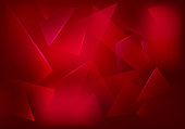 Vector Broken Glass Ruby Background