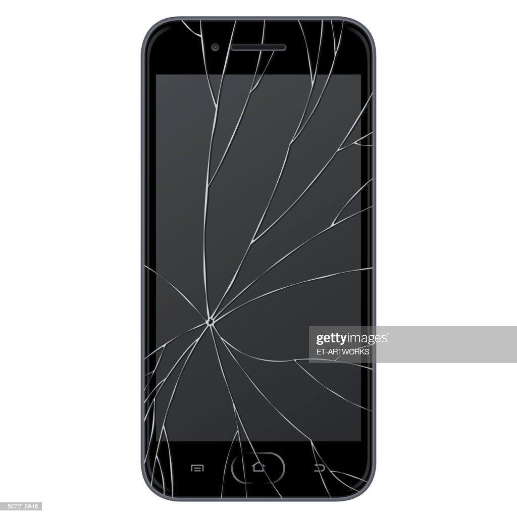 Vector broken Smart phone : stock illustration