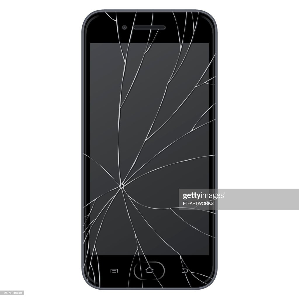 Vector broken Smart phone