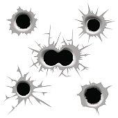 Vector bullet hole